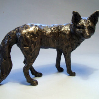 Bronze resin fox