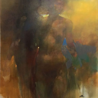Female nude, standing, abstract
