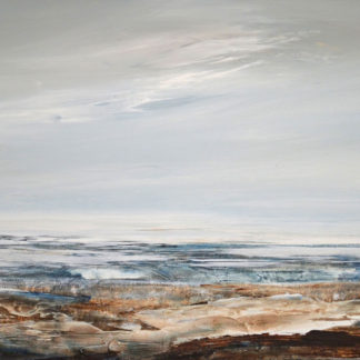 Looking out to sea, still, acrylic