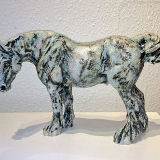 Carthorsemade from cold cast stoneware