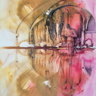 Images from the crypt, winchester cathedral, watercolour
