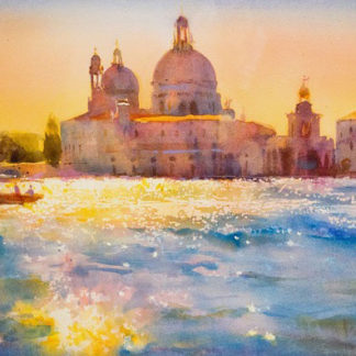 Venice landscape, watercolour