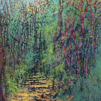 Path through the woods, oil