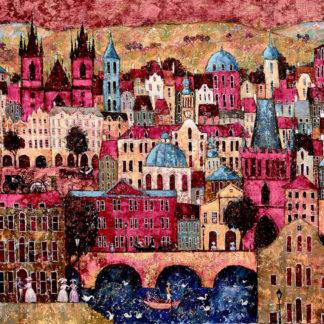 Victorian prague, pink, oil