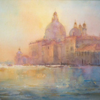 Venice, Grand Canal landscape, watercolour