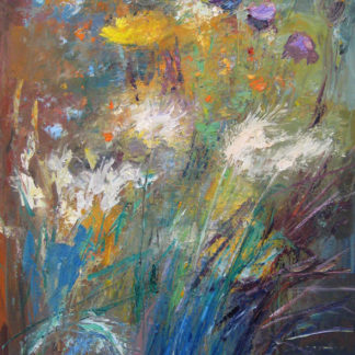 Flowers, movement, oil.