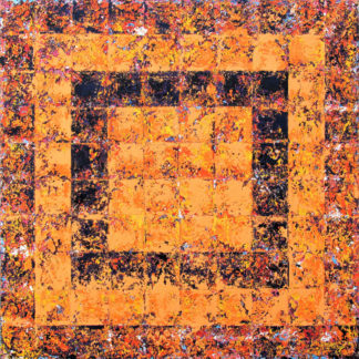 orange abstract painting for sale