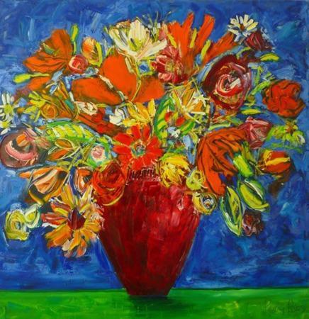 Grannys-Red-Vase
