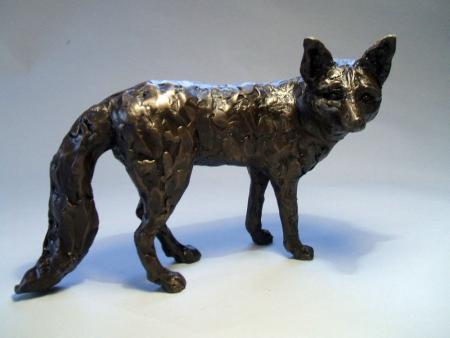 Bronze resin fox
