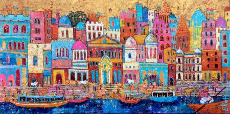 Holy-City,-India-oilpainting-EllieHesse
