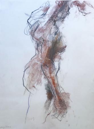 Pastel, female nude