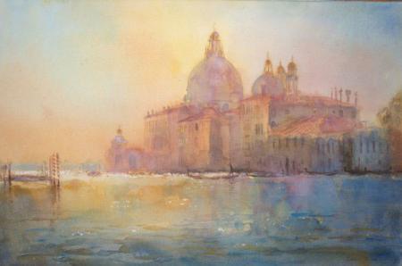 Venice, Grand Canal landscape, watercolour