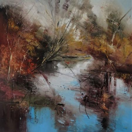 Water-tension-90X90cm