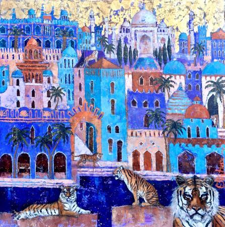 Guardians-of-the-Taj--Ellie-Hesse-oil-painting-2