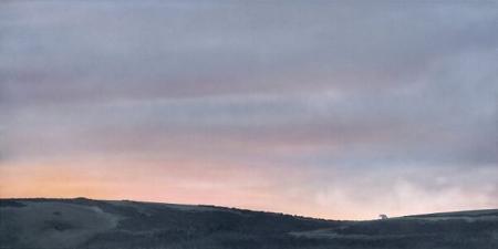 Barn in winter dawn