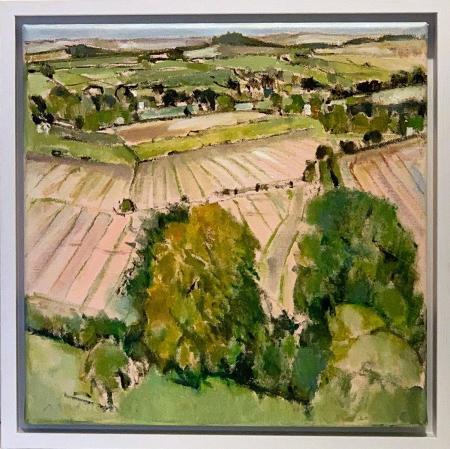 Stockbridge-Down,-Autumn-Fields-II
