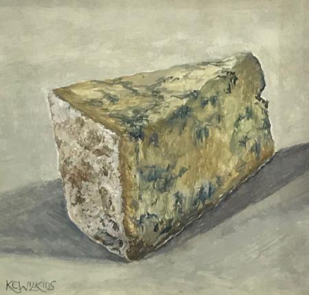 Stilton, oil on gesso