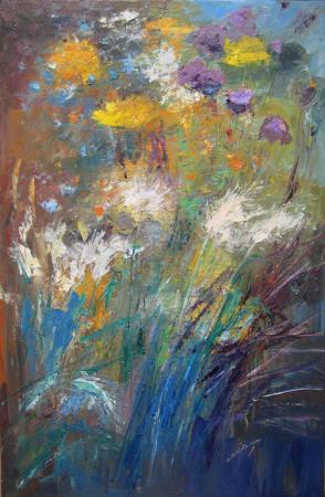 Flowers, movement, oil.